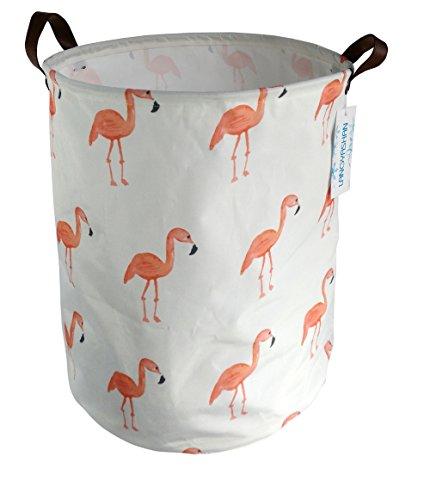 LANGYASHAN Storage Bin?Organizer Basket Laundry Hamper,Toy Bins,Gift Baskets, Bedroom, Clothes,Baby Nursery (Flamingo)