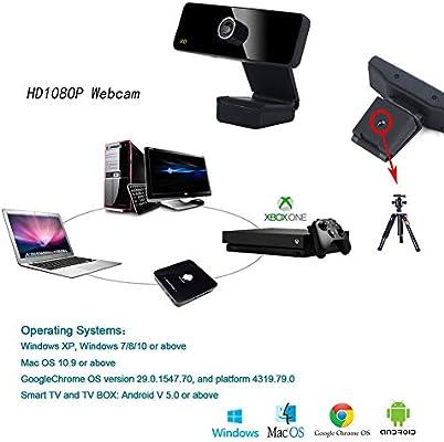 APPLL Webcam Streaming HD 1080P con micrófono Dual y Luz del Anillo, USB Pro cámara Web Stream para Mac portátil de Windows Twitch Xbox One Skype Youtube OBS XSplit: Amazon.es: Deportes y