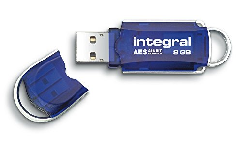 Integral® Courier 8GB Crypto Drive - FIPS 197 Encrypted USB