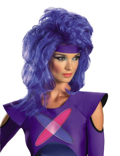 Jem Cartoon Costume (Disguise Jem and The Holograms Synergy Adult Costume Wig, Purple, One Size Adult)