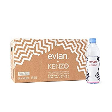 70dbf9692 Evian Kenzo Still Mineral Water 24 x 500ml: Amazon.co.uk: Grocery