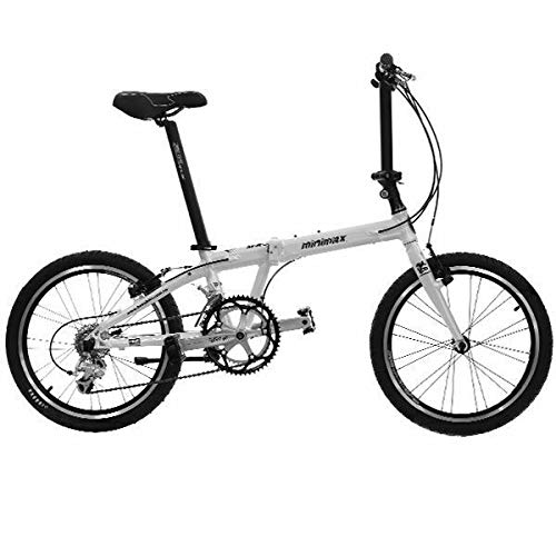 HASA Folding Foldable Bike Compatible with Shimano 18 Speed 20 Inch White