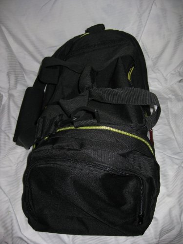 53938610a3 Nike Air Jordan Duffel Gym Bag Basketball Tote Black Lime Green Tote ...