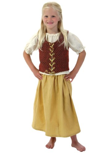 Toddler Red Peasant Dress (Little Girls' Red Peasant Dress X-Large)