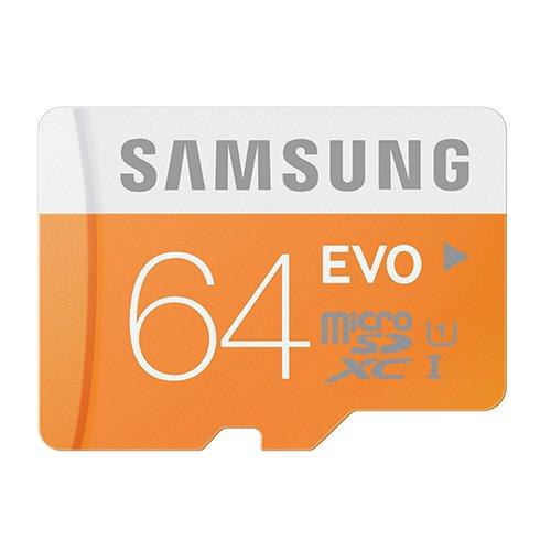 Samsung Electronics 64GB EVO Micro SDXC Upto 48MB s Class 10 memory Card MB MP64DA with Adapter and MemoryMarket USB 30 mega superior acceleration 2 slots MicroSD HC and SD HC memory Card Reader Black Friday Cyber Monday 2015