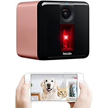 Petcube Play Pet Camera with Interactive Laser Toy. Monitor Your Pet Remotely with HD 1080p Video, Two-Way Audio, Night Vision, Sound and Motion Alerts. For Dog and Cats. Works with Alexa.