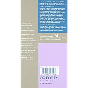 Oxford Handbook of Medical Statistics (Flexicover) (Oxford Medical Handbooks) Flexibound – 4 Nov. 2010