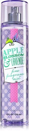 Bath & Body Works Apple Blossom & Lavender Fine Fragrance Mist 8 oz (Green Jasmine Perfume Apple)