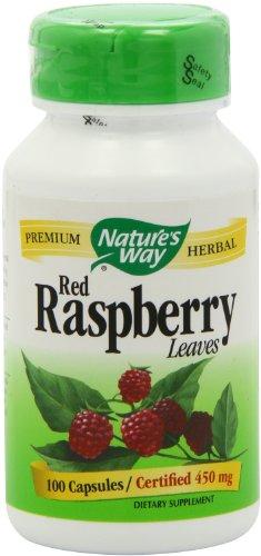 Way framboise rouge des feuilles de la nature, 450 mg, 100 capsules