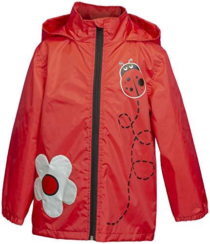 (Rainbow Daze Boys & Girls Fun Printed Waterproof Rain Coat Jacket with Hood (7/8, Red Lady Bug))