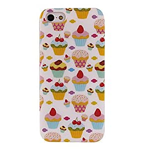 WEV Pretty Strawberry Cakes Pattern TPU Soft Back Case for iPhone 5/5S