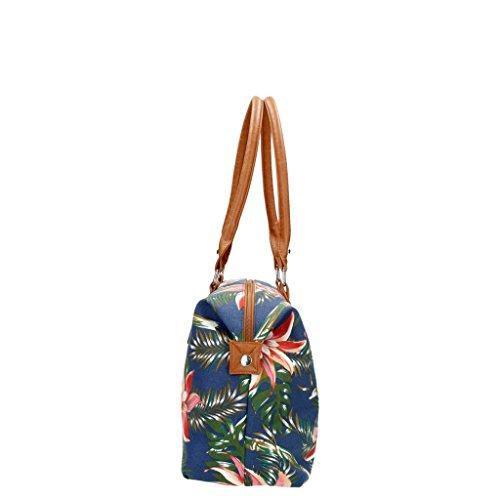 Beagles Borsa da viaggio piccola donna con fiori 16100 - 988