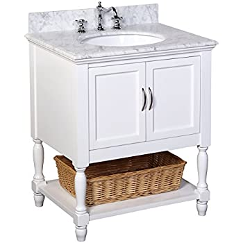 kitchen bath collection beverly bathroom vanity with marble countertop cabinet with soft close function
