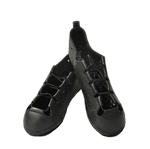 - RYAN AND ODONNELL Girls Soft Gel Black Leather Irish Dance Pumps - with Free Drawstring Bag - (7 Wide)
