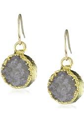Mickey Lynn Jewelry Round Druzy Drop Earrings