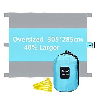 INeibo XXL Picknickdecke Für 6 Personen, Ultraleicht Und Wasserdicht. Größe  3x2,8M Blau
