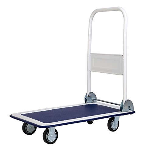 Giantex 10 330lbs Platform Cart Dolly Folding Foldable Moving Warehouse Push Hand Truck (Folding Dolly Utility)