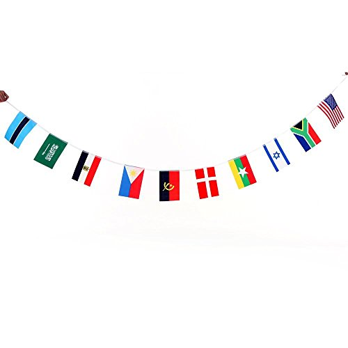 Anself 164ft/ 229ft International String Flag Hanging Flag Banner 200 Countries for Olympic Games Party Celebration by Anself (Image #3)