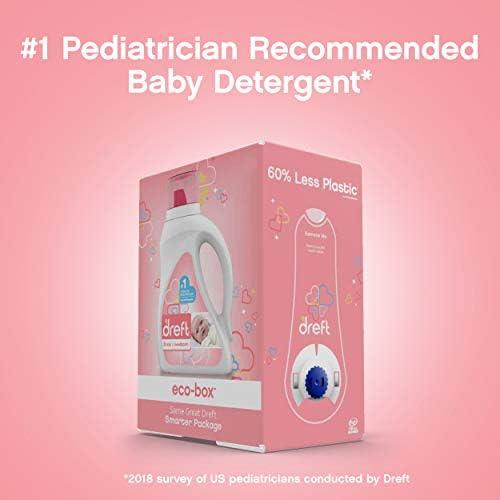 41k%2BQUBOk7L. AC - Dreft Stage 1: Newborn, Ultra Concentrated Liquid Laundry Baby Detergent Eco-Box, HE Compatible, 105 Fl Oz, 96 Loads
