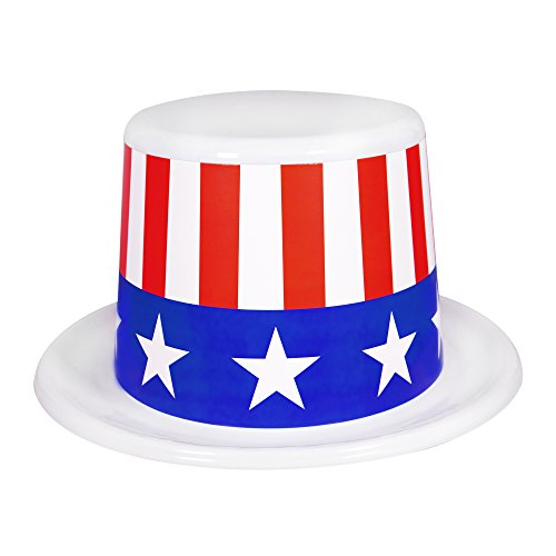 Patriotic July 4th Top Hats - 12 Pack Party (Party City Top Hat)