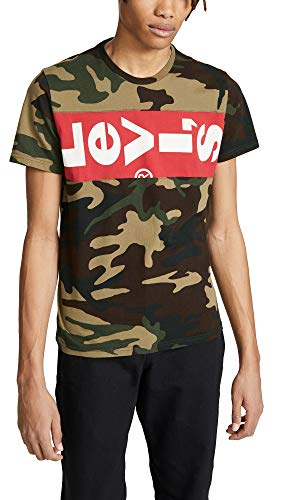 Levis Red Tab Men's Short Sleeve L-Tab Tee, Camo, Medium