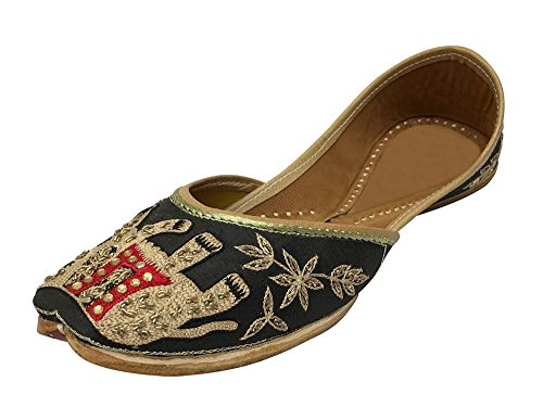 Step n Style Flat Beaded Sandals Flat Sandals Flat Shoes Indian Sandals Khussa Jutti gHDsI