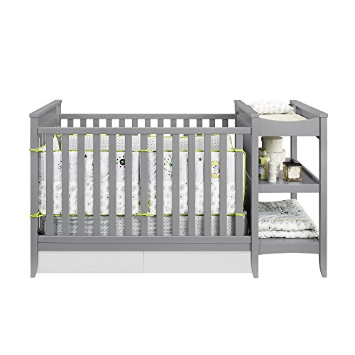 Amazon.com : Baby Relax Emma 2 In 1 Crib And Changing Table Combo, Gray :  Baby