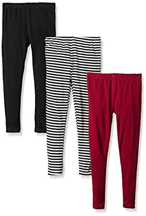 Limited Too Little Girls' 3 Pack Jersey Spandex Legging (More Styles Available), Multi Print/MK, 4