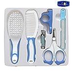 Koochie-Koo Baby Nail Hair Daily Care Kit Newborn Kids Grooming Brush and Manicure Set, Newborn Grooming Kit, Baby Care – 6 Pcs (Blue)