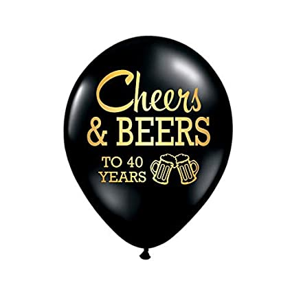 White Rabbits Design Cheers And Beers To 40 Years Balloons 40th Birthday Party