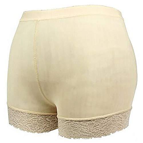 Women's Butt Lifter Padded Lace Boy Shorts Body Shaper Hip Enhancer Panties,SkinColor-XXL