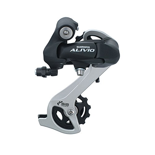 - Shoptourismkit ALIVIO RD M410 7S 8S Speed MTB Bicycle Rear Derailleur Black & Silver (Black)