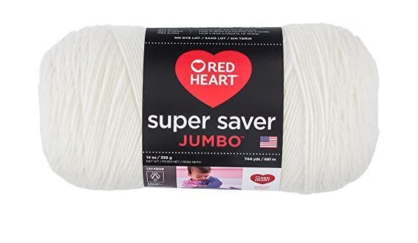 RED HEART Super Saver Yarn White