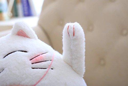 Driverder Nette Bambuskohle Gl/ückliche Katze Puppe Cartoon Panda Kissen Auto Katze Pl/üschtiere Lucky Cat Blau, S