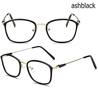 80da055d754 Shopystore Ashblack  New Optical Plain Mirror Fashion Frame Glasses  Ultralight Retro Men And Women   Amazon.in  Clothing   Accessories