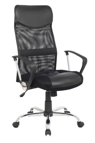 SixBros. Chefsessel Bürostuhl Schreibtischstuhl Drehstuhl Schwarz - 139PM/1319