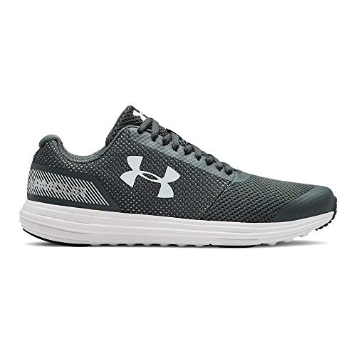 Under Armour Boys' Grade School Surge RN Sneaker, Pitch Gray (105)/White, ()