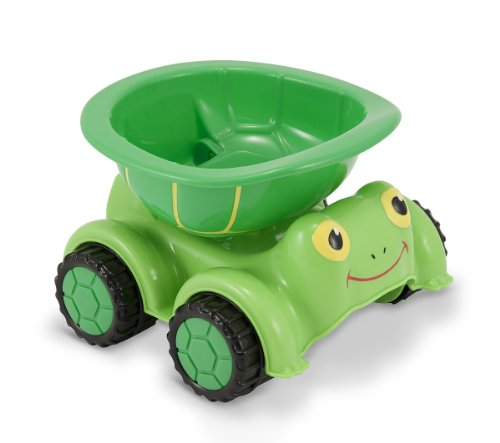 Melissa & Doug Sunny Patch Tootle Turtle Dump Truck Vehicle (Tootle Turtle)
