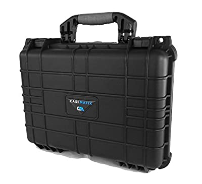 CASEMATIX Waterproof Marine Electronics and Accessory FishFinder Case Fits Garmin Striker , Hummingbird Helix , Lowrance , Raymarine , Simrad and More GPS Imaging Chartplotter Fish Finders