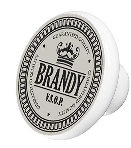 Vintage Brandy Ceramic Cabinet Drawer Knob