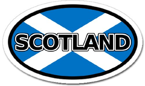 LandsAndPeople Scotland Flag Car Bumper Sticker Decal Oval