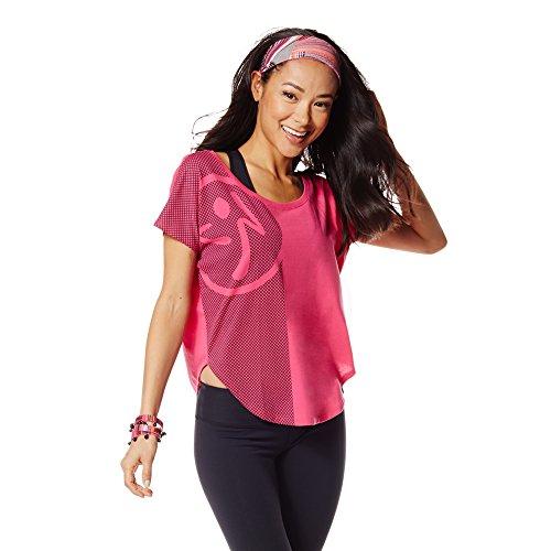 Zumba Fitness Women's Tulip Crop Top, Berry, X-Large