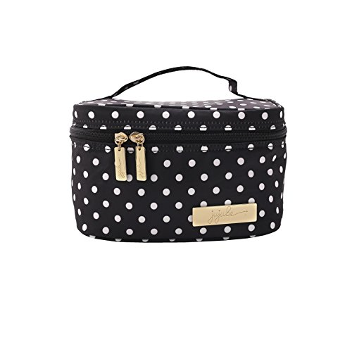 JuJuBe Be Ready Travel Make-Up Cosmetic Bag, Legacy Collection – The Duchess – Black with White Polka Dots