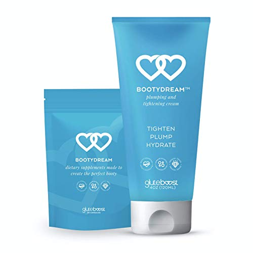 Gluteboost - BootyDream Butt Enhancement Combo Kit - Natural Buttocks and Curve Enlargement Cream and Pills - 1 Month Supply