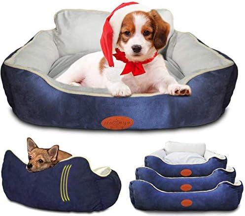 Machine Washable Rectangle Dog Cat Pet Puppy Bed