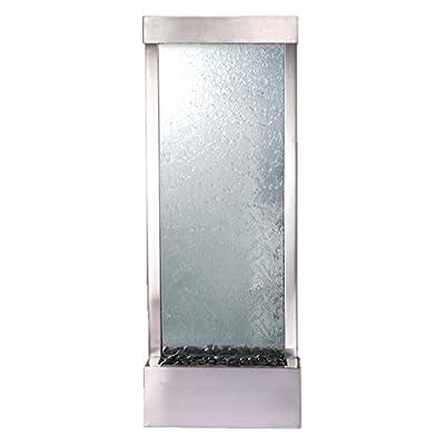 BluWorld Gardenfall 48 in. Indoor/Outdoor Floor Fountain - Clear Glass