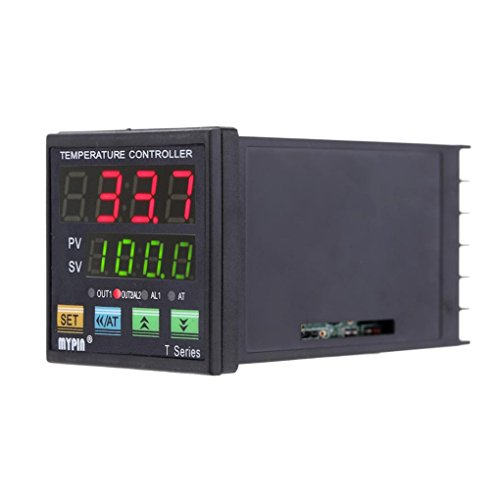 Minzhi MYPIN TA4-VSR Digital PID Temperature Controller 0-10V Analogue Output 2 Alarms Relay Thermometer Heating Cooling (Analogue Output)