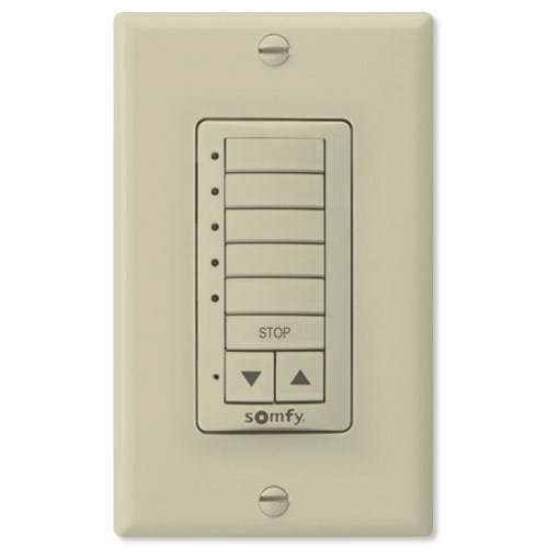 Somfy SO181081x-SO1810814 Decoflex Wirefree RTS Wall Switch, 5 Channel, Ivory