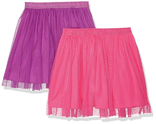 (Amazon Brand - Spotted Zebra Girls' Toddler 2-Pack Tutu Skirts, Pink/Purple, 3T)