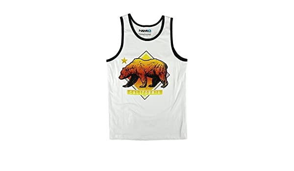 9c8a296ae2fe6e TONY HAWK Mens Tank Muscle Shirt  Colorful California Bear at Amazon Men s  Clothing store